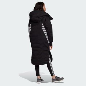 Adidas Three Stripes Long Parka Jacket S